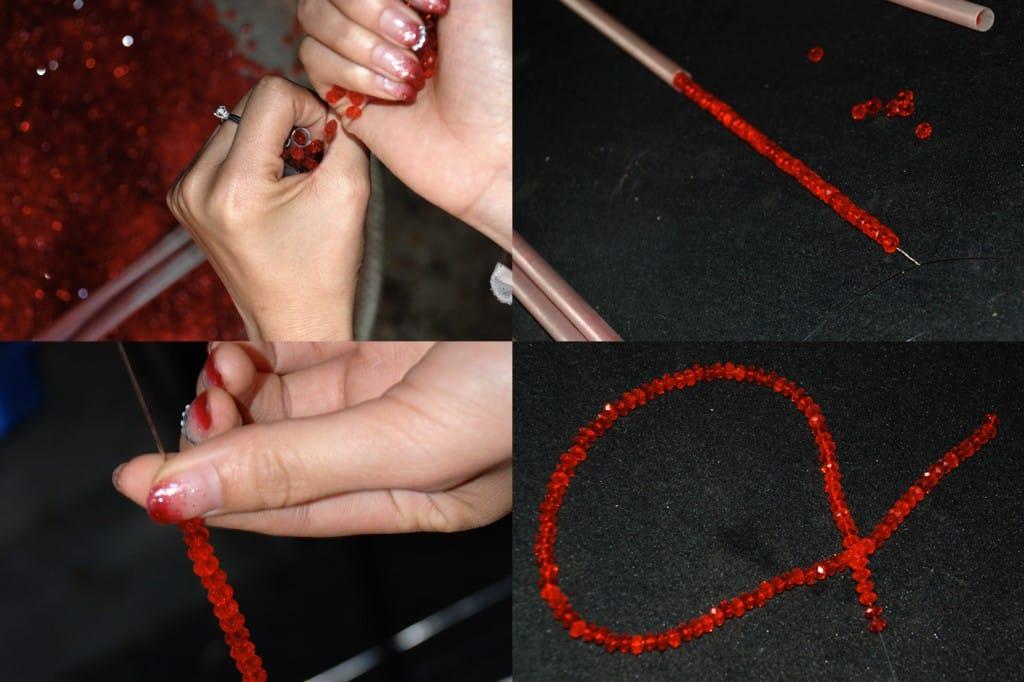 Herstellung der Perlenstränge