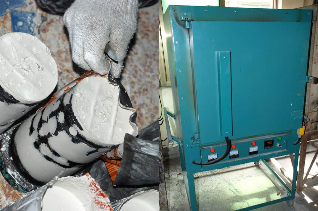 Produktion von Perlen und Accessoires aus Metall - Erstellung der Gußform (Schritt 2)