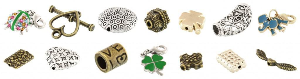 Metall Perlen, Schmuckanhänger und Charms