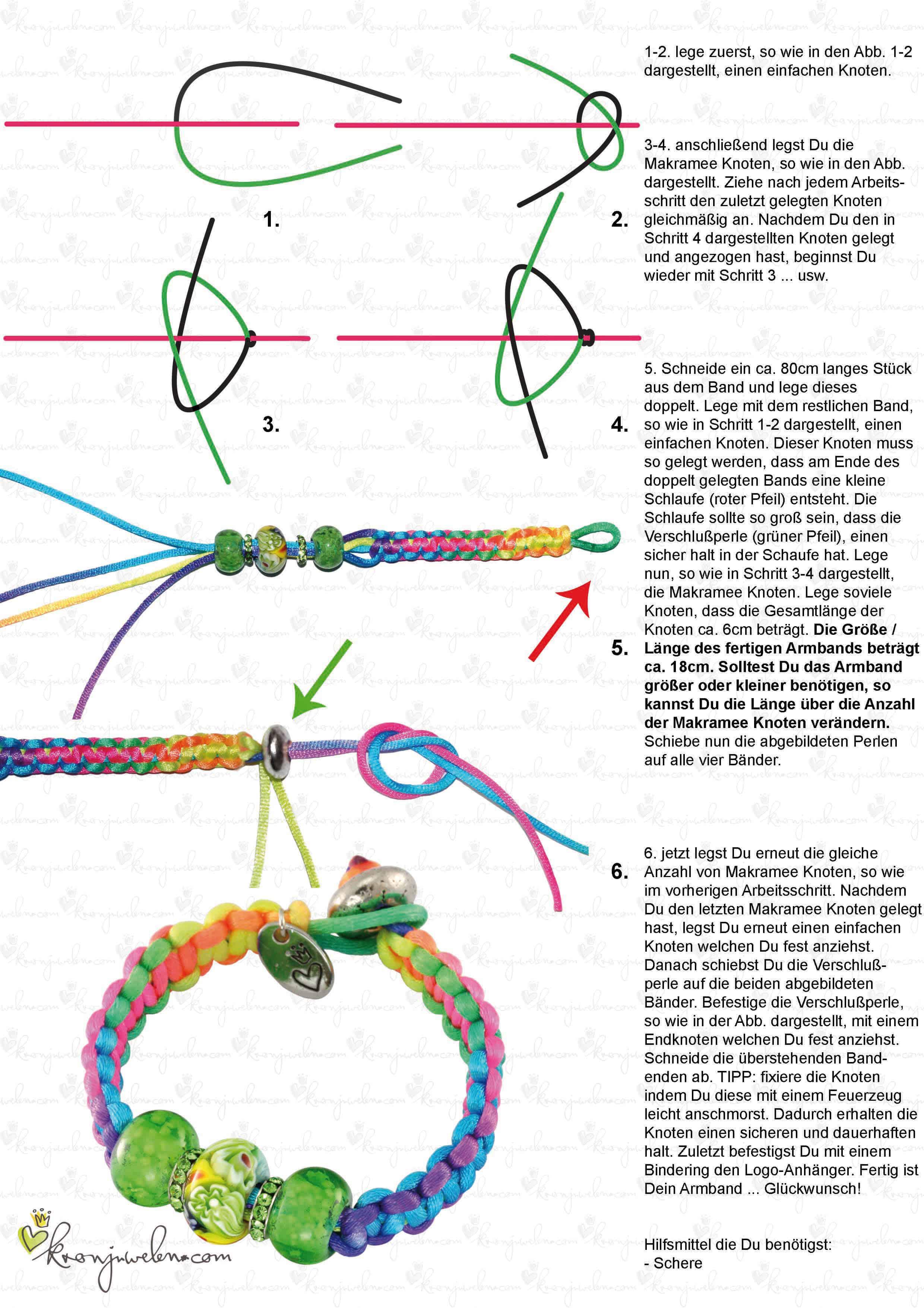 Neon Flechtarmband von kronjuwelen.com
