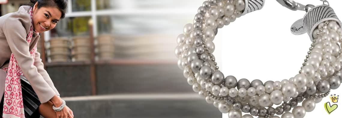 Perlenarmband von kronjuwelen.com mit kostenloser Anleitung