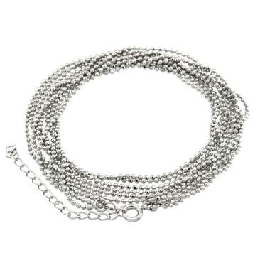 Halskette (ballchain) mit Ringverschluß