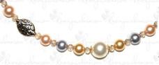 Swarovski Crystal Pearls im Wechsel mit Glasschliff- und Metallperlen