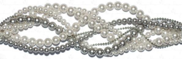 geflochtene Perlenstränge