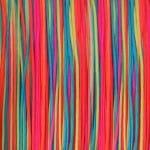 0,8 mm breites multifarbenes Satinband