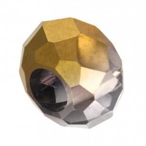 Großlochperle aus geschliffenem Glas