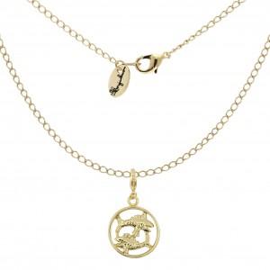 Halskette Sternzeichenanhänger Fische