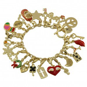 Bettelarmband mit Charms