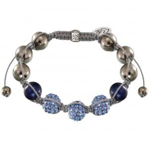 Shamballa Armband mit blauen Strassperlen