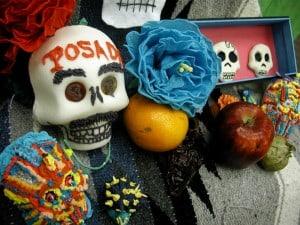 'Dia de los muertos' und Halloween Masken