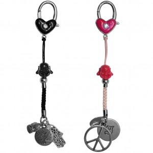 Schlüsselanhänger mit Perlen und Charms
