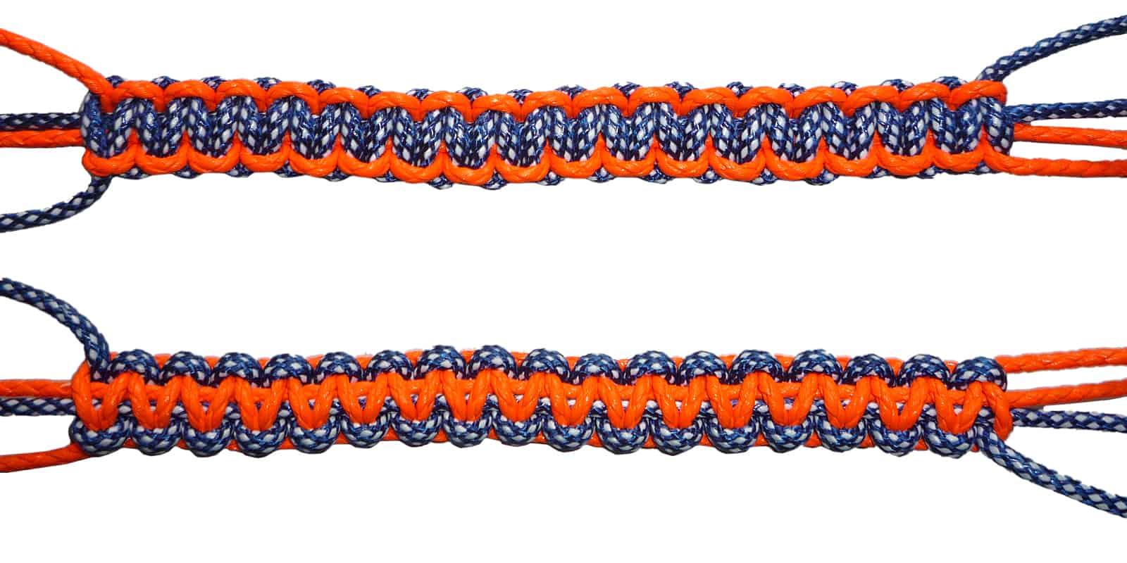 Makramee Muster Weberknoten Vorder- / Rückseite