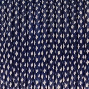 Gewachstes Schmuckband, 4mm breit, blau-weiß