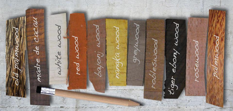 Edelholzarten für Holzperlen von kronjuwelen.com