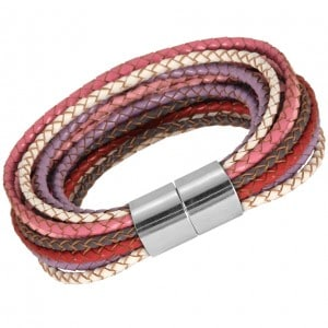 Armband aus geflochtenen Lederbändern