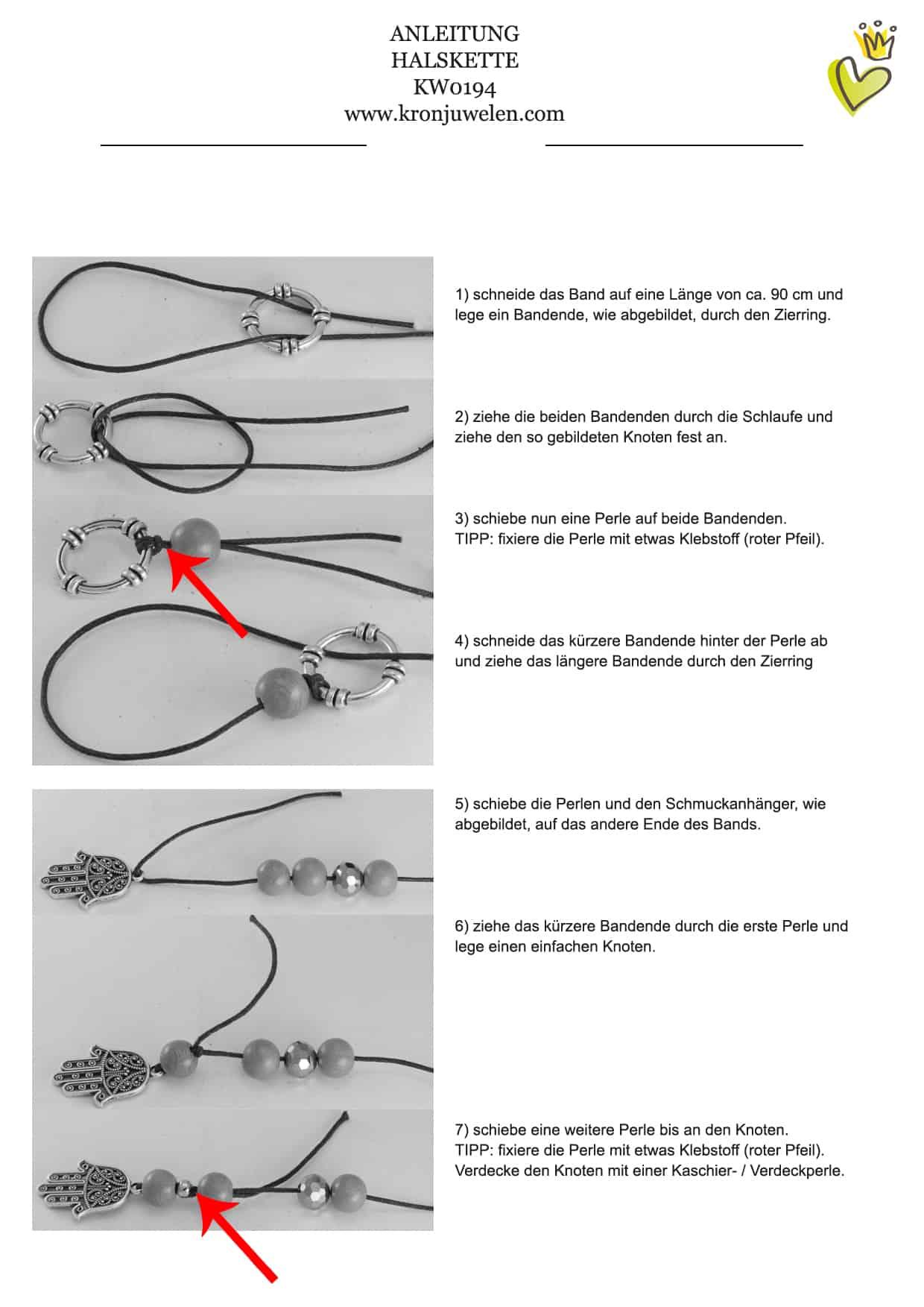 Buddha Halskette Anleitung