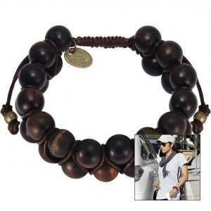 Halle Berry Holzperlen Shamballa Armband