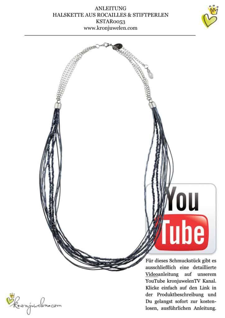 Halskette aus Rocaille und Stiftperlen - Tipi Hedren Videoanleitung von kronjuwelen.com (Seite 1 von 1)