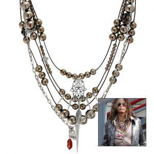 Halsketten-Set aus Lederbändern