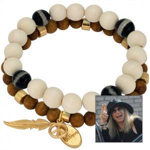 Barbara Streisand Holzperlenarmband