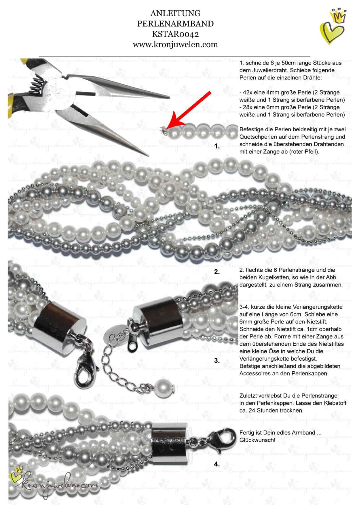 Anleitung Perlenarmband von kronjuwelen.com (Seite 2/2)