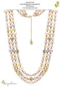Anleitung 3-reihige Perlenkette