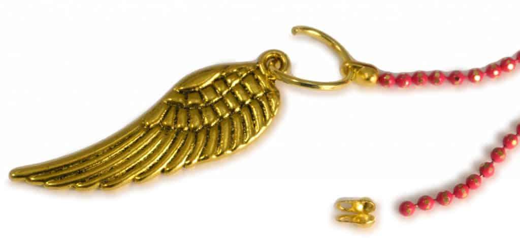 Anleitung Kinder Kugelkette mit Flügelanhänger