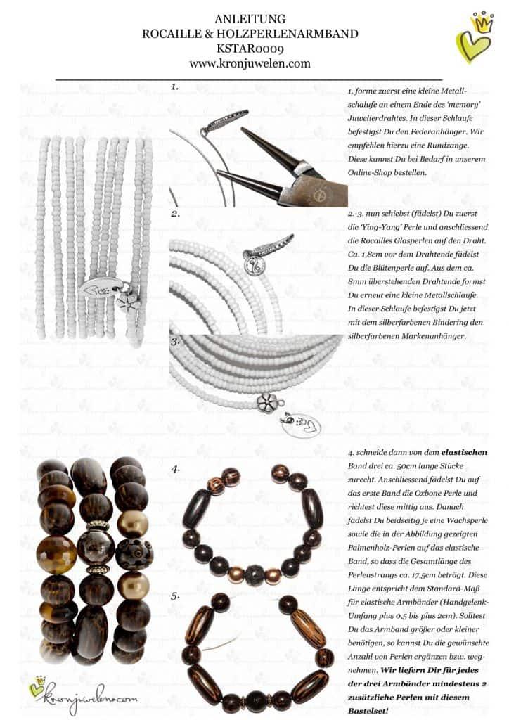Anleitung Rocailles und Holzperlenarmband von kronjuwelen.com (Seite 2 von 4)