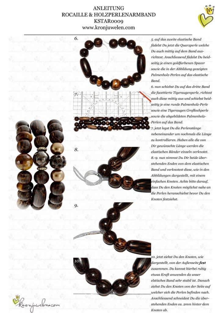 Anleitung Rocailles und Holzperlenarmband von kronjuwelen.com (Seite 3 von 4)