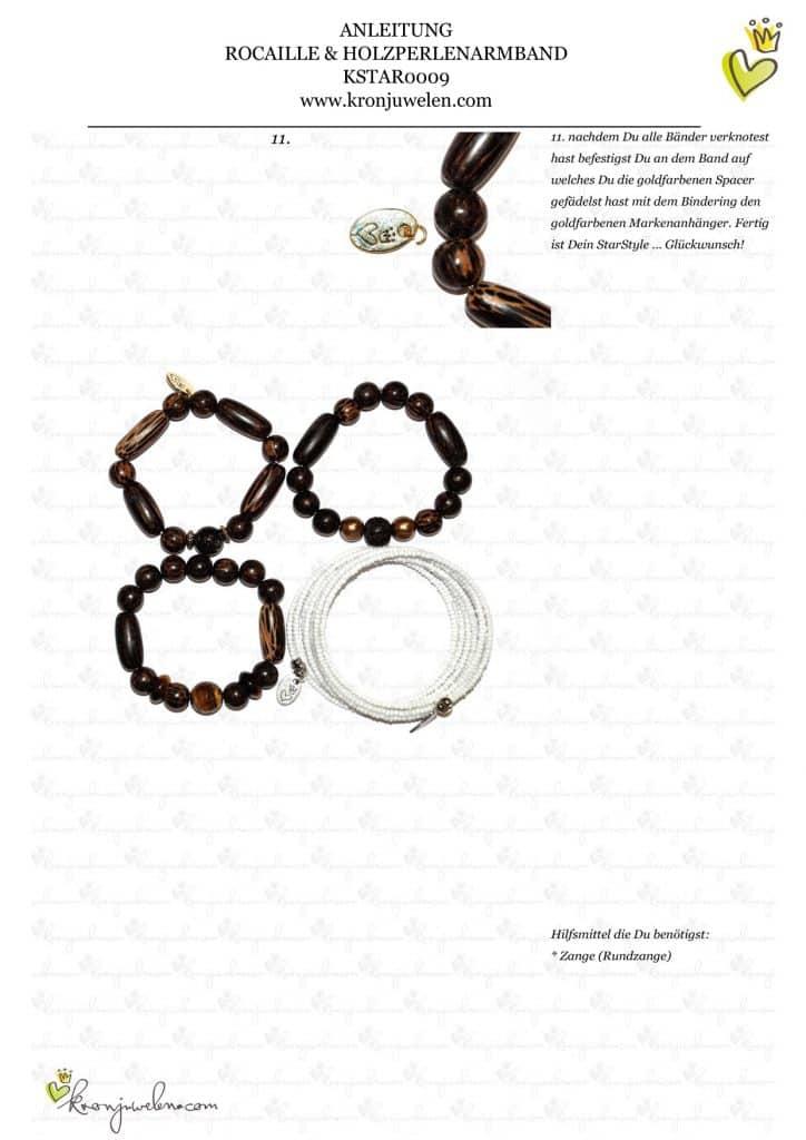 Anleitung Rocailles und Holzperlenarmband von kronjuwelen.com (Seite 4 von 4)