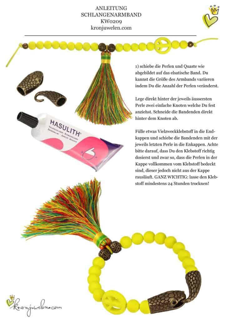 kronjuwelen.com - Anleitung Schlangen Armband, Seite 2 von 2