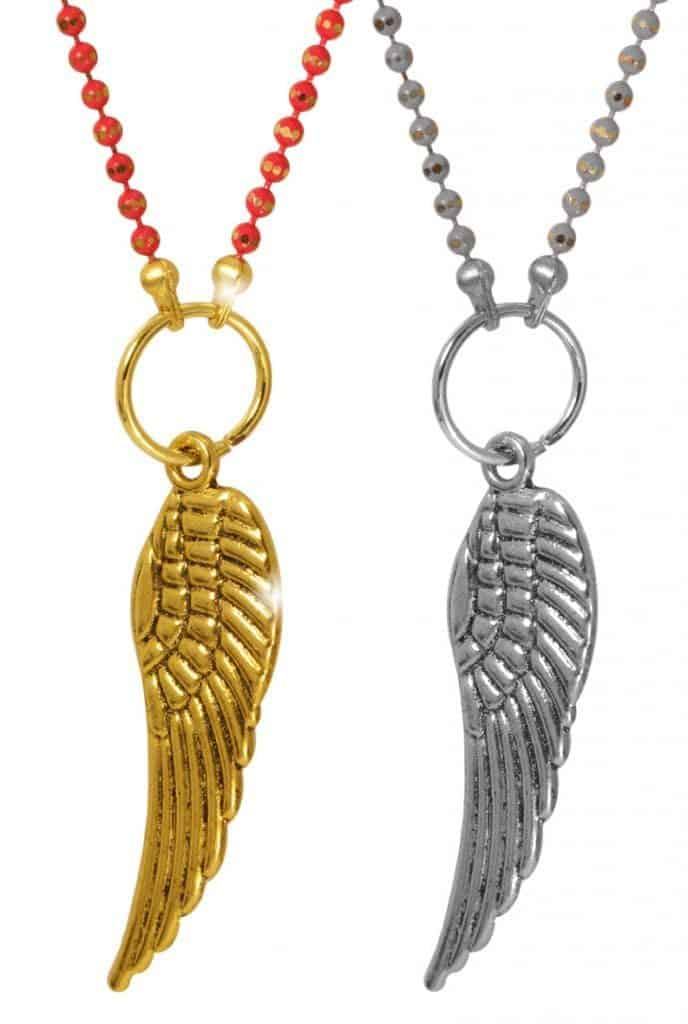 Basteln mit Kindern - Halskette Flügel