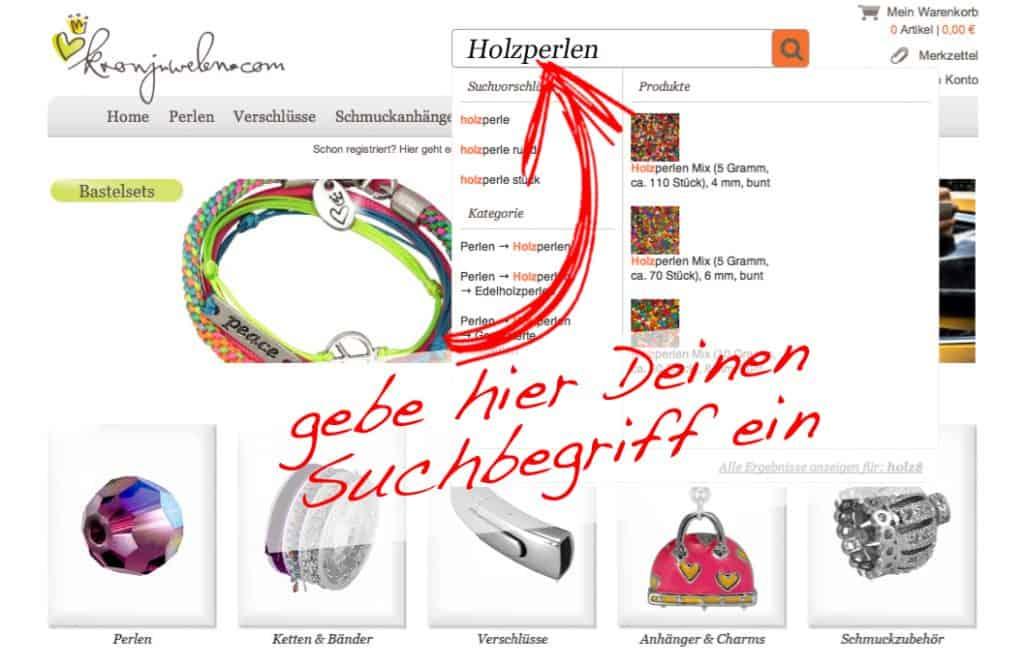 Perlensuche - Suchfunktion kronjuwelen.com