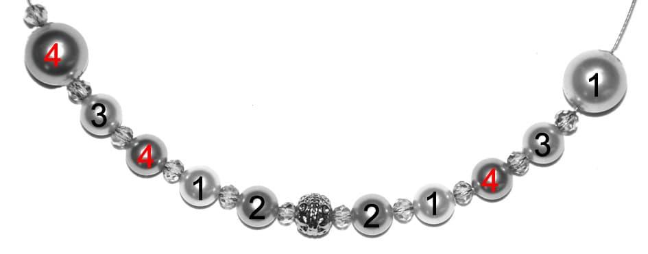 Perlenkette Anleitung Schritt 10 von kronjuwelen.com