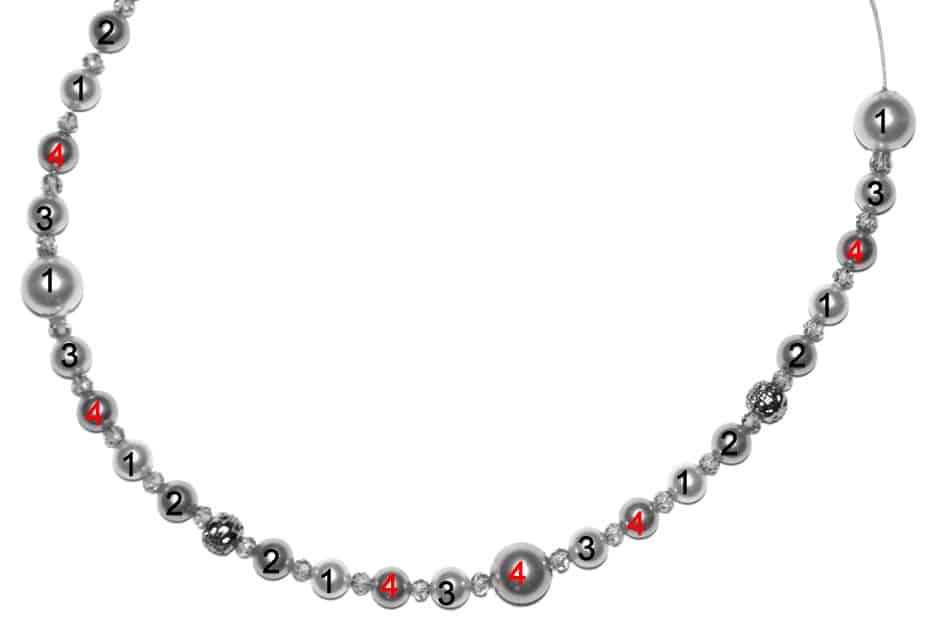 Perlenkette Anleitung Schritt 11 von kronjuwelen.com