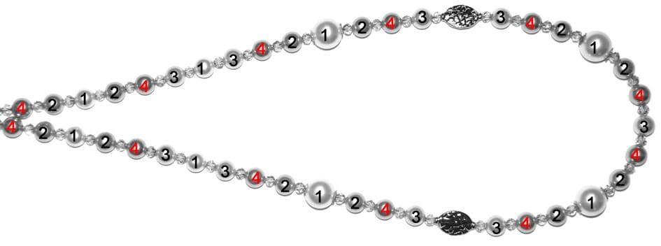 Perlenkette Anleitung Schritt 4 von kronjuwelen.com