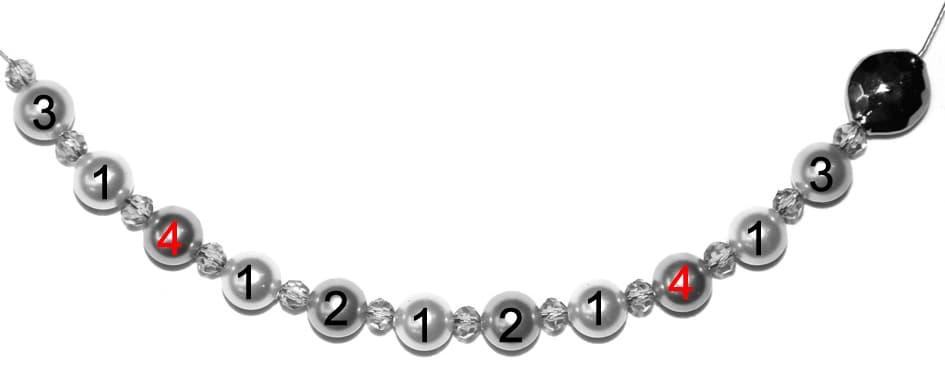 Perlenkette Anleitung Schritt 6 von kronjuwelen.com