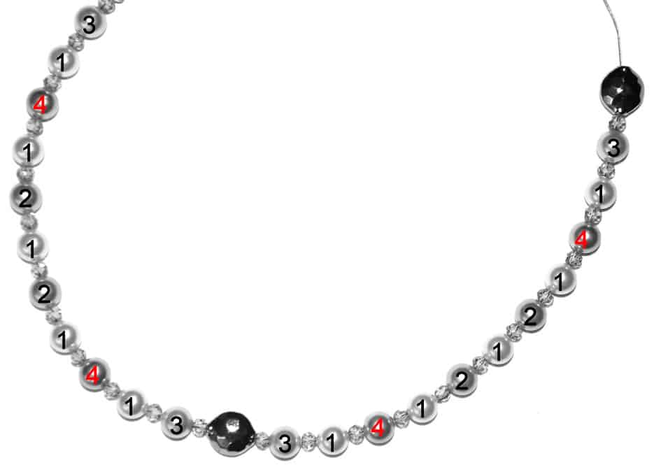Perlenkette Anleitung Schritt 7 von kronjuwelen.com