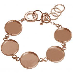 Cabochon Armband mit 18 mm Fassungen von kronjuwelen.com