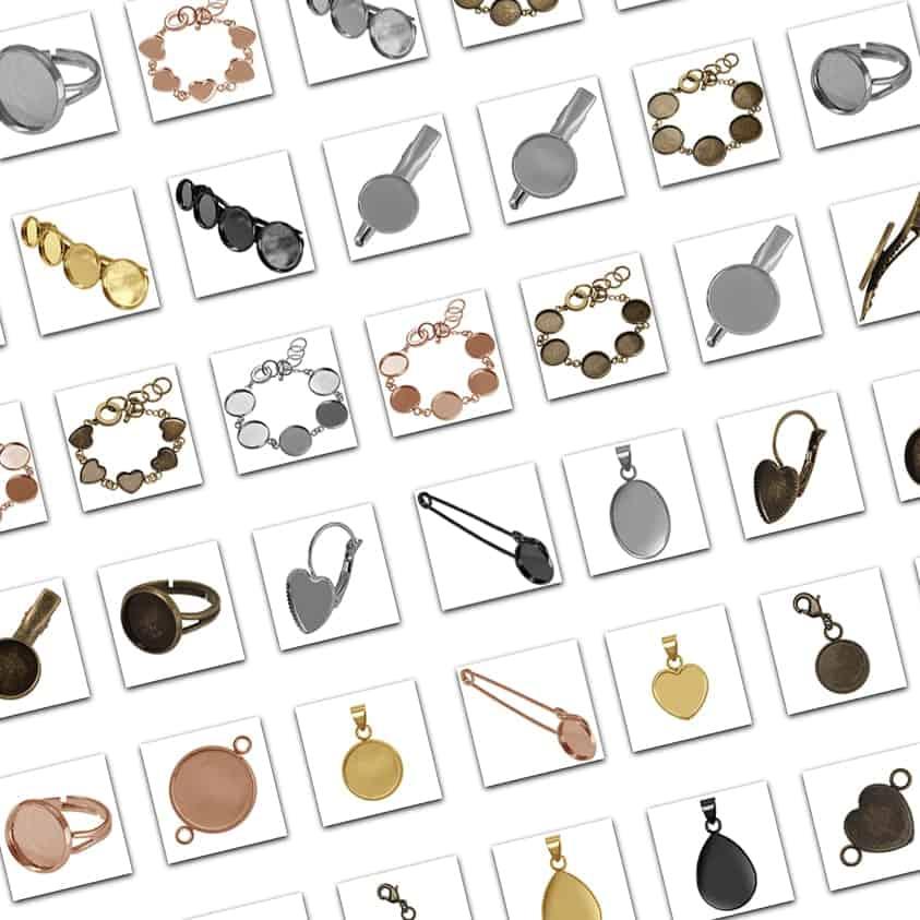 Cabochons Halter Auswahl von kronjuwelen.com