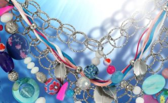 Bunte Halskette mit Anleitung zum Selbermachen