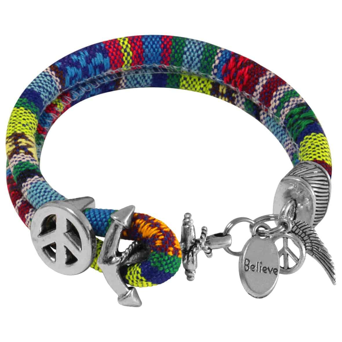 Armband Peace Zeichen kronjuwelen.com