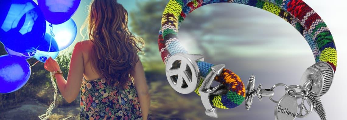Armband Peace Zeichen von kronjuwelen.com