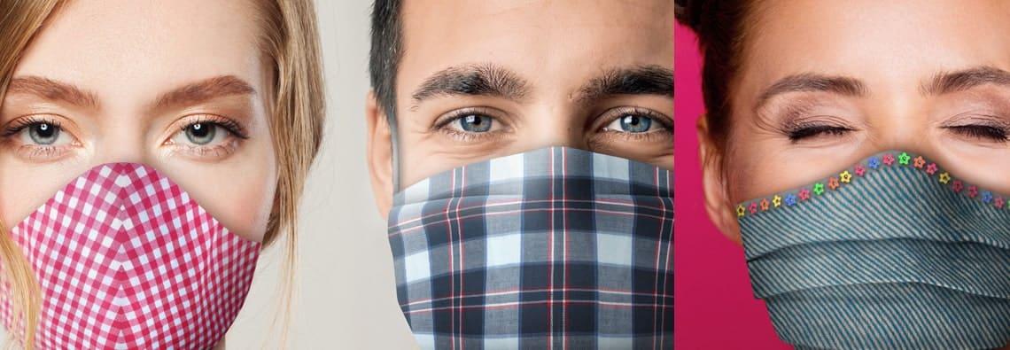 Mund Nasen Maske selber machen für Frauen und Männer